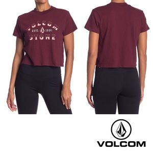 🔥🆕Volcom Stone City T-Shirt - Burgundy Sz S- NWT